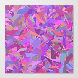 Purple camouflage Canvas Print