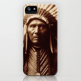 Three Horses by Edward S. Curtis (1905) iPhone Case