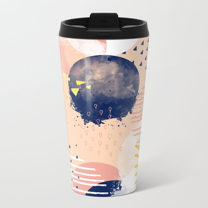 Abstract Metal Travel Mug