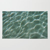 pool Area & Throw Rugs featuring Pool by Marta Bocos