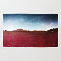 milky way Area & Throw Rugs featuring Milky Way by Sisti | Steve Falcon