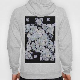 MODERN ART BLACK & WHITE FLORAL GARDEN Hoody