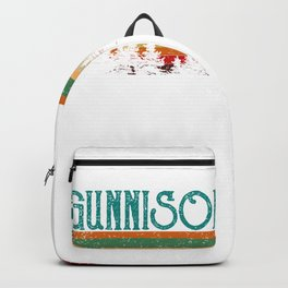 Gunnison Colorado Retro Vintage Custom Funny Backpack