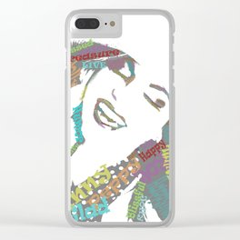 Happy woman II Clear iPhone Case