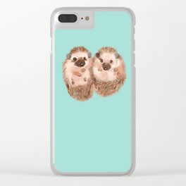 Twin Hedgehogs Clear iPhone Case