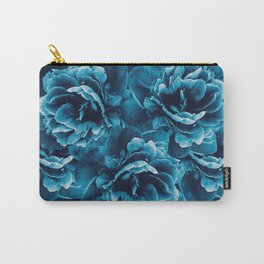 Blue Peony Flower Bouquet #1 #floral #decor #art #society6 Carry-All Pouch
