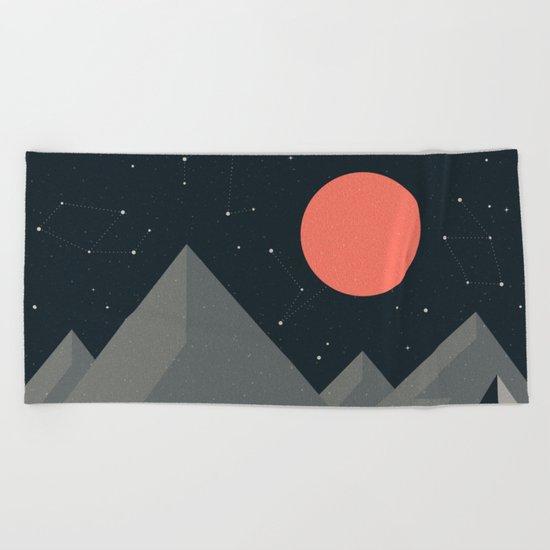 Retro Camping Beach Towel