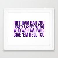 riff raff Framed Art Prints featuring Riff Ram by Laura Willig