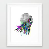 howl Framed Art Prints featuring Howl by Kyle Naylor