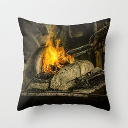 Hot working Throw Pillow