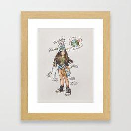 ECO-FRIENDLY TIPS Framed Art Print