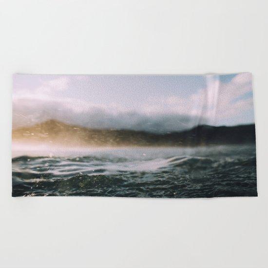 Dark Waves II Beach Towel