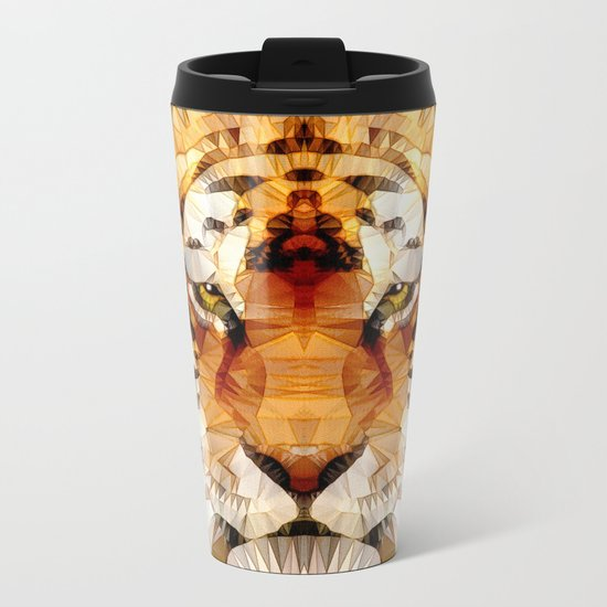 abstract tiger Metal Travel Mug
