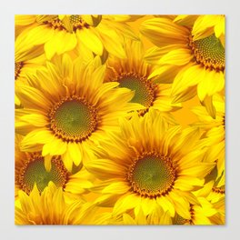Yellow Mellow Sunflower Bouquet #decor #society6 #buyart Canvas Print