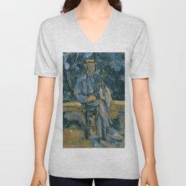Paul Cezanne - Portrait of a Man Unisex V-Neck