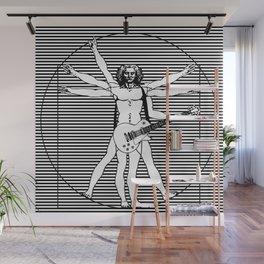 Vitruvian man - Les Paul guitar playing D-Chord (version with strips) Wall Mural