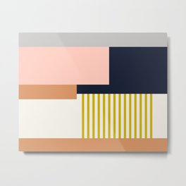 Sol Abstract Geometric Print in Multi Metal Print