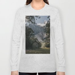 Mountain Cabin - Landscape and Nature Photography Long Sleeve T-shirt
