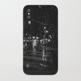 RAINY BOKEH B&W iPhone Case