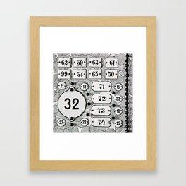 Number 32 Framed Art Print