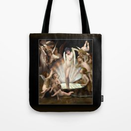 Bouguereau's Angels Surround Cupid Tote Bag