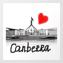 I love Canberra Art Print