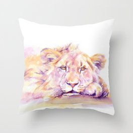 Lion _ Too hot to hunt Throw Pillow