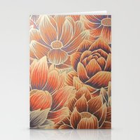 lotus flower Stationery Cards featuring Lotus by Jess Moore