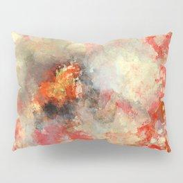 White Flower in Red Decoration Pillow Sham