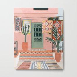 moroccan terrace house Metal Print