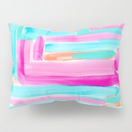 It's Your Life pastel color stripes modern art abstract painting lines pattern minimalist Pillow Sham