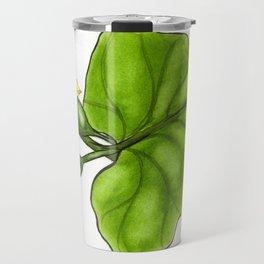 Cucumber Blooms Travel Mug