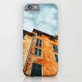 painted building at cinque terre iPhone Case