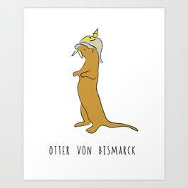 Otter von Bismarck Art Print
