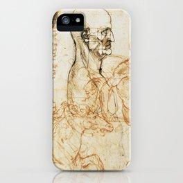 Sketches by Leonardo Da Vinci iPhone Case