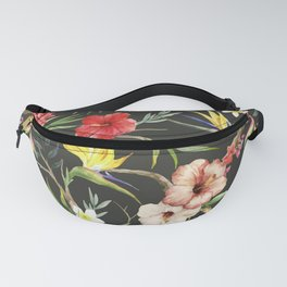 Watercolor Tropical Flower Fanny Pack