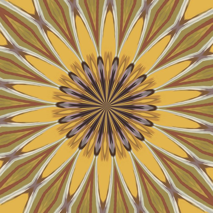 Yellow and Ochre Flower Pattern Abstract Duvet Cover