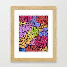 Monstera Leaves #5 Framed Art Print