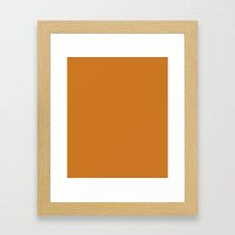Ochre - solid color Framed Art Print
