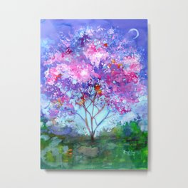 April Tree Metal Print