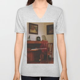 Piano lesson Unisex V-Neck