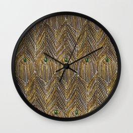 Lady Curzon's Peacock dress Wall Clock