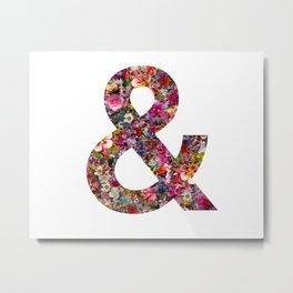 & ampersand print Metal Print