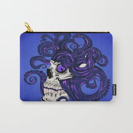 Purple Octopus in Skull Carry-All Pouch