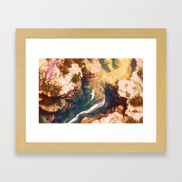 Topaz Canyon Framed Art Print
