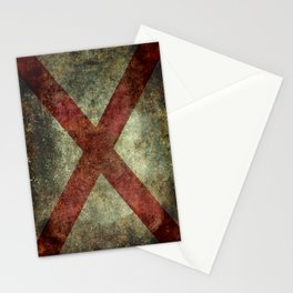 Alabama state flag Stationery Cards