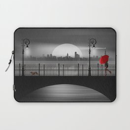 The bridge in the summer rain Laptop Sleeve