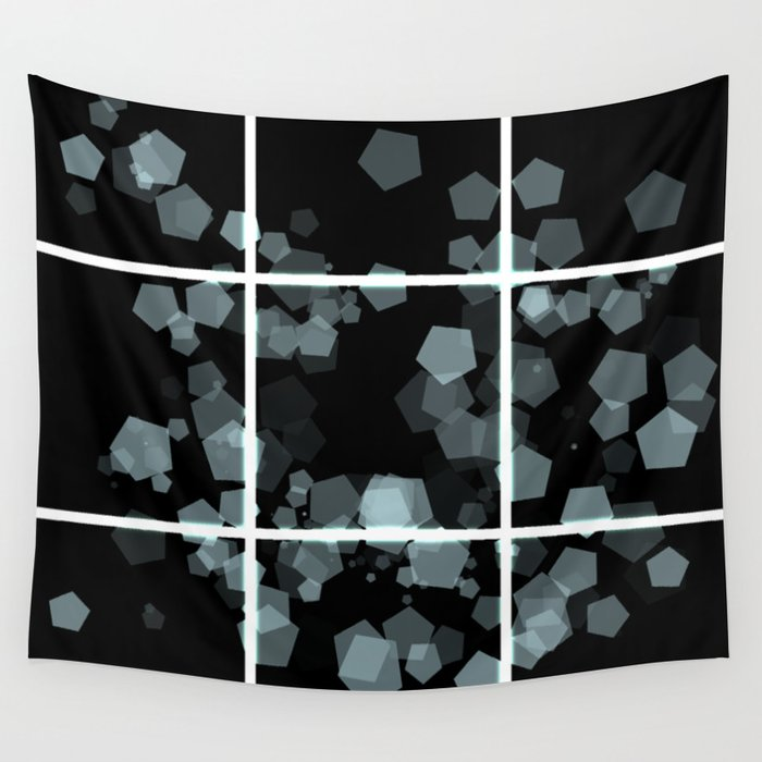 White rays and bokeh Wall Tapestry