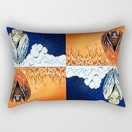 Duality: Angel/Devil Tiling (Color) Rectangular Pillow