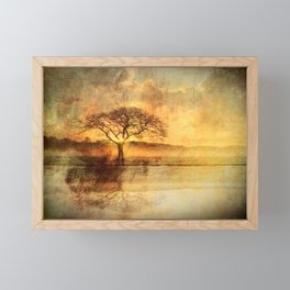 Sunset On The Savannah Framed Mini Art Print